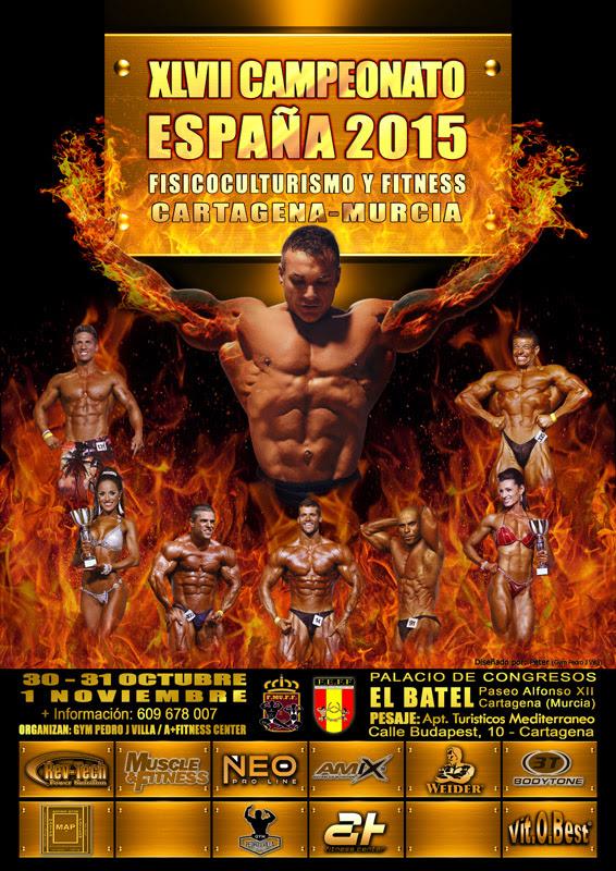 Cto España FEFF 2015 Cartagena; Programación horarios Categorías