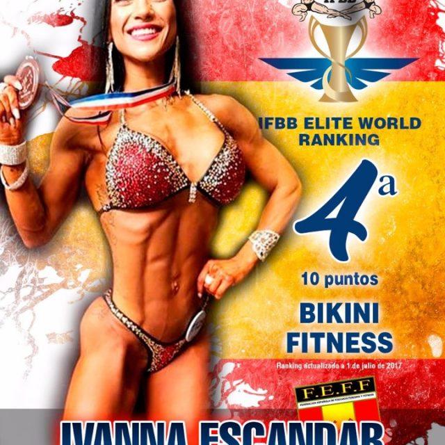 Orgullosos de nuestros atletas internacionales ifbb eliteranking2017